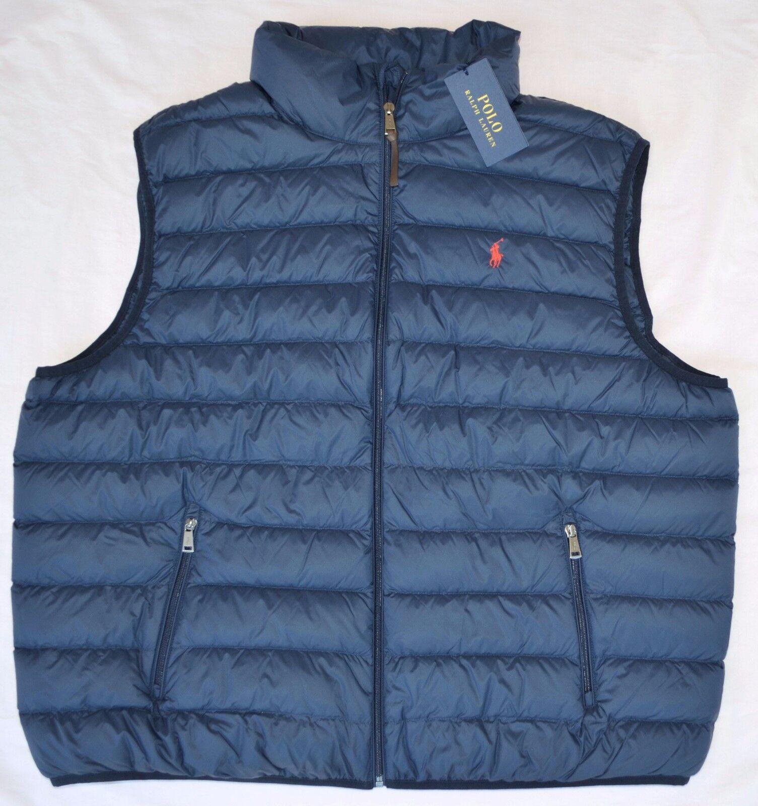 ce9a71728415 XXL 2xl Polo Ralph Lauren Mens Packable Puffer Down Vest Navy Blue ...