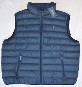 New 2XLT 2XL TALL POLO RALPH LAUREN Men packable puffer down vest ...