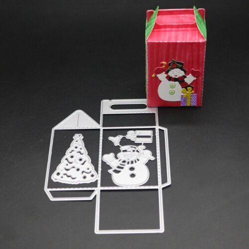 Snowman Tree DIY Box Cutting Dies Stencil DIY Scrapbooking Paper Card Embossings