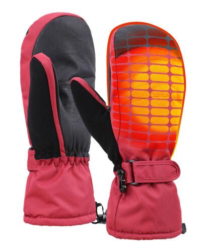Women/'s 3M Thinsulate Waterproof Extra-Grip Ski Mittens w//Handwarmers Pocket