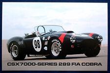 Prospekt brochure Datenkarte Shelby CSX 7000-Series 289 FIA Cobra Roadster (USA)