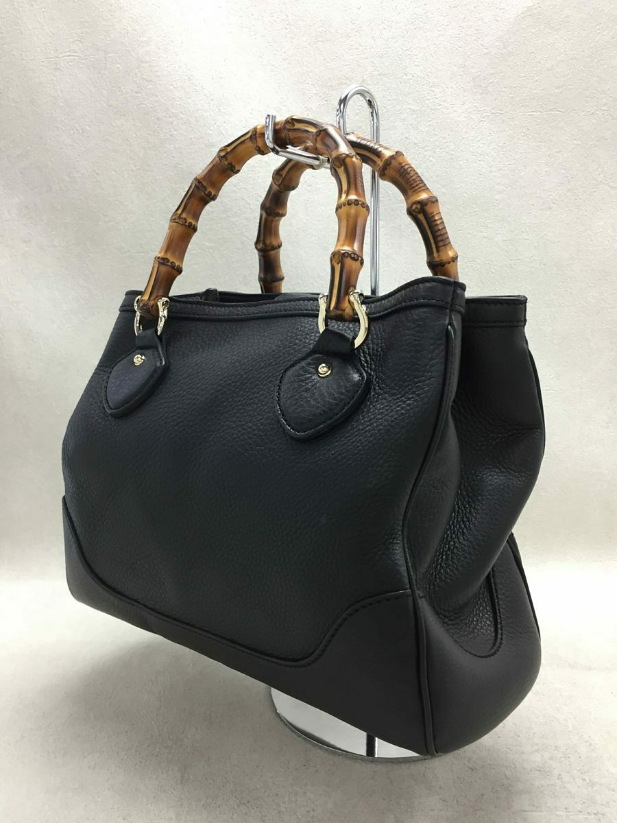 Used Gucci Diana Bamboo 2WAY Bag Leather Black Co… - image 2
