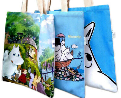 Umorismo Moomin Valley Moomintroll Cartoon Tote Bag Soft Brushed Canvas Reusable Shopper