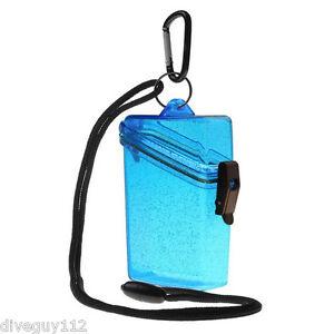 Witz Dry Box Keep it Safe Locker ID Scuba Diving Gear Bag NEW Glitter BOX 2 Blue