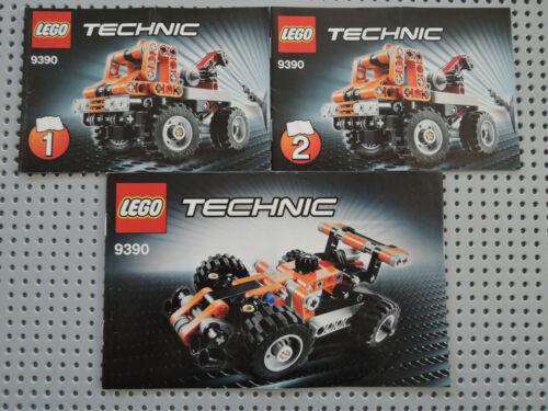 LEGO Bauanleitung Instruction Technic 9390  3 Hefte