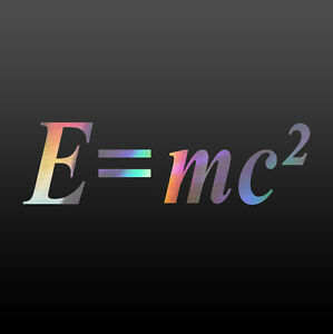 Math Decal - E=mc2 Sticker - Choose Color & Size
