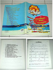 Spartiti 39° FESTIVALBAR 2002 OTTIMO Carish Songbook Sheet Vasco Rossi Nek