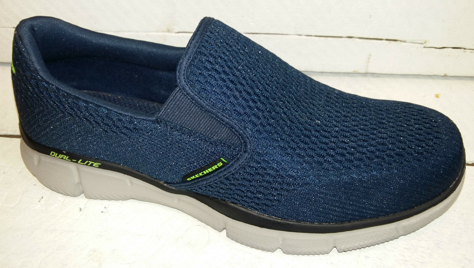 Hombres Skechers Double Slip Play Navy Slip Double On zapatos c8e96f