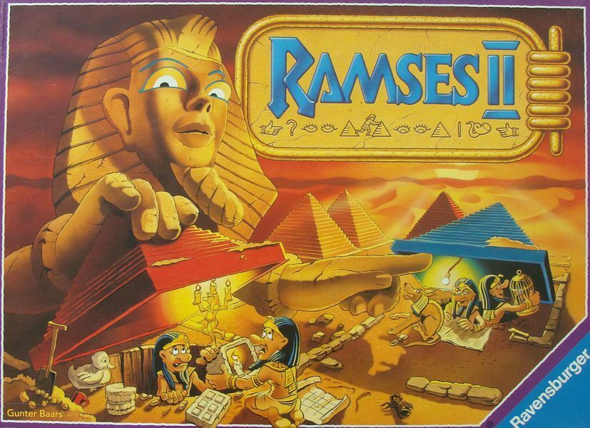 Ramses II Board Game - Search for Pharaoh's Items via Pyramids for Point Scoring