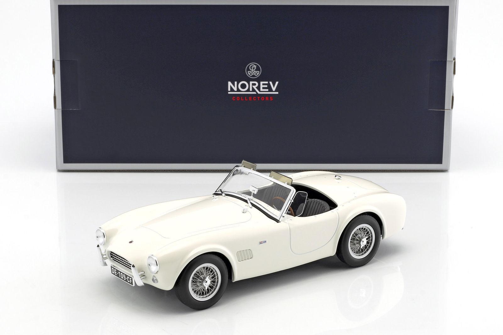 Norev - 1963 AC COBRA 289 araignée couleur Blanc échelle 1 18