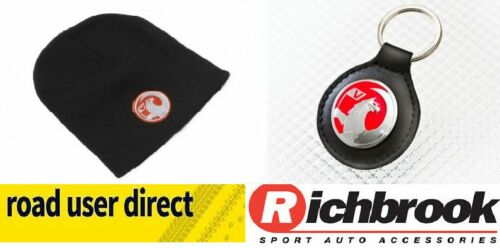 GREAT GIFT IDEA Richbrook Vauxhall Beanie Hat /& Vauxhall Leather Key Fob