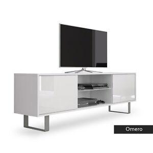Dettagli su Porta tv in 5 colori, portatv per soggiorno con led, mobile per  tv moderno Omero