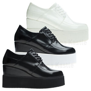 2eca3a820bc Image is loading AnnaKastle-Womens-Fashion-Lace-Up-Oxfords-Creepers-Platform -