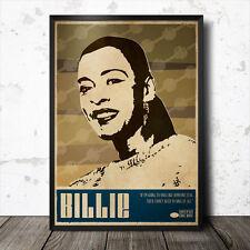 Billie Holiday Art Poster Music Jazz Billie Holiday Etta James Ella Fitzgerald