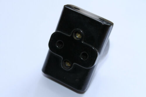 alter Stecker 3er Verteiler Steckdose Bakelit Stromdieb Mehrfachsteckdose