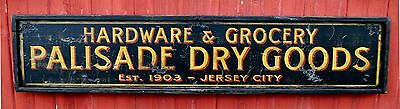 Hardware & Grocery - Personalized Dry Goods - Rustic Hand Made Vintage Wood Sign