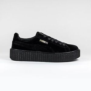 100% originale NEW 2016 da Donna Rihanna Puma x fenty CREEPER sneaker in Velluto Nero