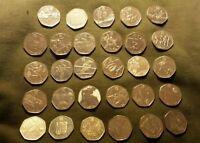 London 2012 Olympics 50p Coins 29 in set inc Football, Judo, Triathlon, cheap