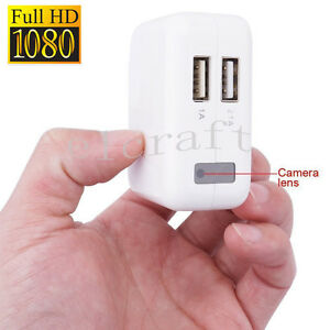 USB Wall Charger Hidden Spy Camera 1080P HD Mini DVR Recorder Motion Detection G