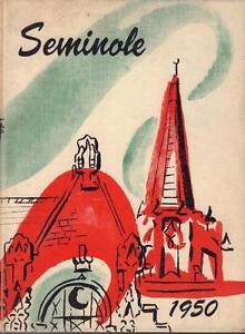 1950 RARE UNIVERSITY of FLORIDA GAINESVILLE SEMINOLE YEARBOOK VERY GOOD COND