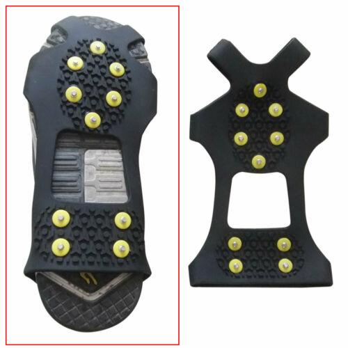 10Teeth//Nail Ice Snow Crampons Spike Anti-slip Shoe Cover for Climbing Fishing #