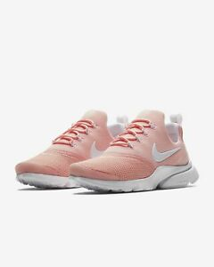 buy online f23b7 4efc2 Details about Womens Nike Presto Fly 910569-605 Coral Stardust/White NEW  Size 10