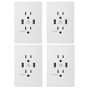Dual-USB-Wall-Outlet-Charger-Port-Socket-with-15A-Electrical-Receptacle-AC-Power
