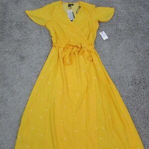 Volcom-Women-039-s-Long-Yellow-Summer-EZ-Days-Dress-Size-Small-B13417X8-98-Msrp