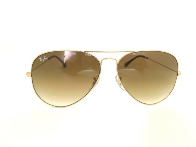 Ray Ban RB3025 Aviator Gold Brown Gradient Frame Sunglasses 001 51 58mm  Unisex e4621f239a5d