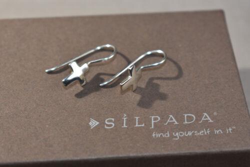 SILPADA W0330  Sterling Silver Cross Earrings