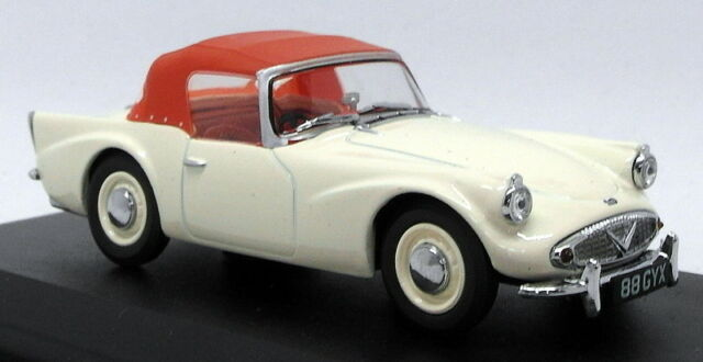 Oxford Diecast 1/43 Scale Model Car DSP003 - Daimler SP250 - Ivory/Red