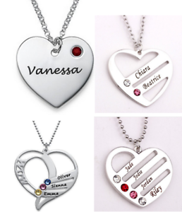 Personalized necklace heart pendant customized necklace birthstone image is loading personalized necklace heart pendant customized necklace birthstone custom aloadofball Images