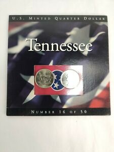 2002 Tennessee State Quarters Coins of America U.S. Minted Quarter Dollar