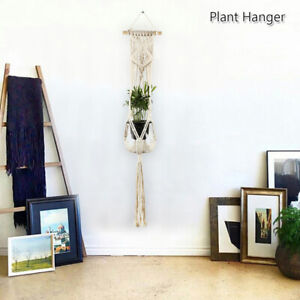 Pot-Holder-Macrame-Plant-Hanger-Hanging-Basket-Hemp-Rope-Braided-Garden-Holder