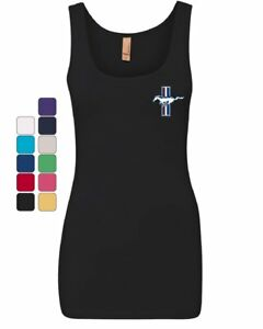 Ford-Mustand-The-Legend-Lives-Logo-Women-039-s-Tank-Top-Classic-Muscle-Cars-Top