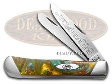 CASE XX Slant Series Abalone Corelon Trapper 1/2500 Stainless Pocket Knife