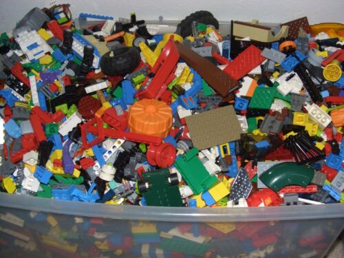 LEGO 100 MIXED Parts & Pieces 1/4 pound Bricks Bulk Lot lb BUY 4 get 1 more FREE