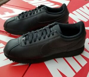 2a7a2f78e NIKE CORTEZ BASIC LEATHER MEN'S BLACK/BLACK 819719 001 (FITS ONE ...