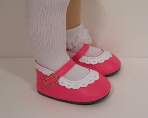 DK PINK /& WHITE 2-Tone Classic Doll Shoes For Chatty Cathy Debs