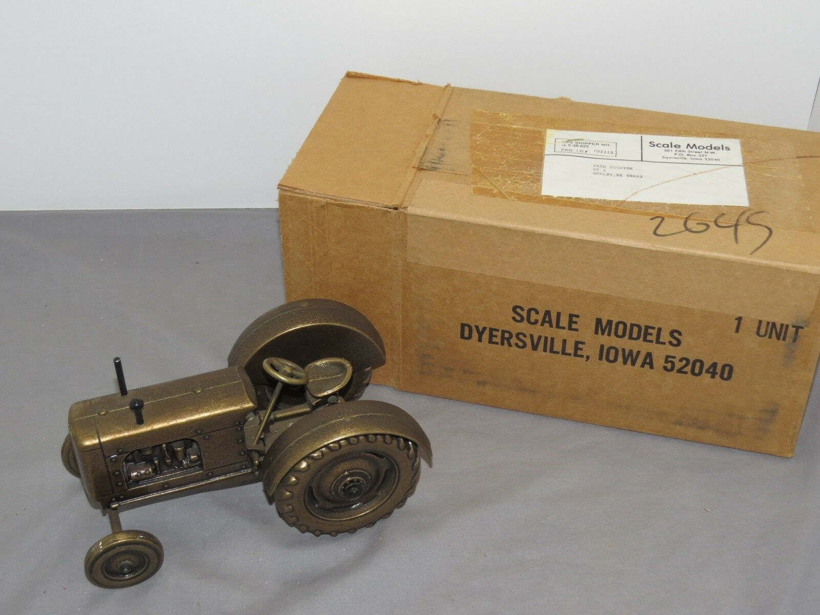 BRASS Scale Models COOP Co-op Toy Tractor 1 16th scale BRASS No.3 Standard NIB