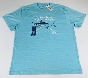 Izod-Saltwater-T-Shirt-Blue-Men-s-XL-New-B1