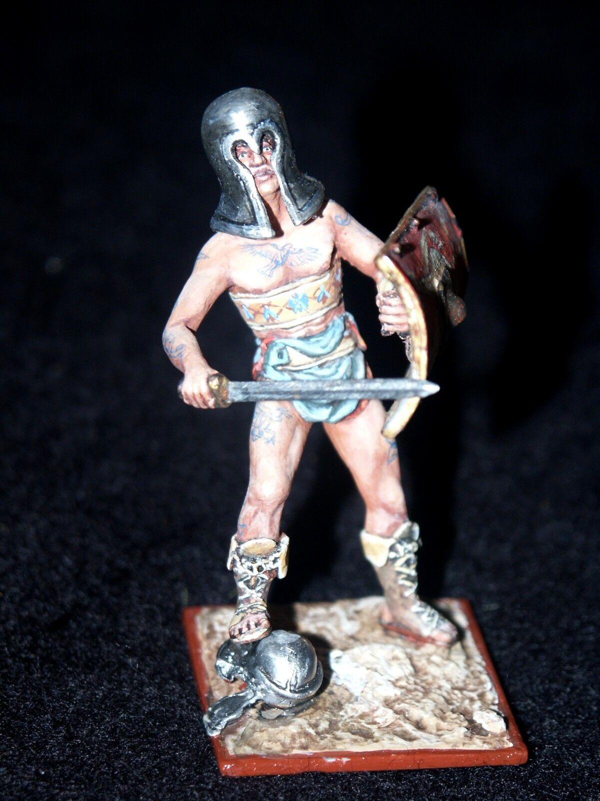 St Petersburg. Amber. Roman Warrior w Sword & Shield Standing on Helmet, 54mm