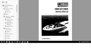 yamaha jet boat service manual exciter 1999 ext1200x service manual rh ebay com yamaha owner's manual library yamaha keyboard manual library
