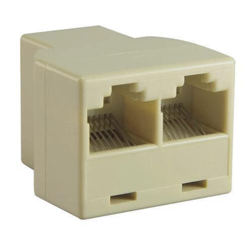 LAN Ethernet Convertor RJ45 Splitter Adapter1 to Dual Female Port CAT5//CAT6//CAT7