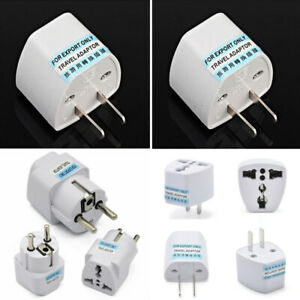 EU Europe Euro UK to USA US AC Travel Charger Power Adapter Converter Wall Plugs