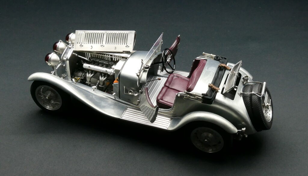 1930 Alfa Romeo 6C 1750 GS Clear Finish by CMC in 1:18 Scale   CMC142