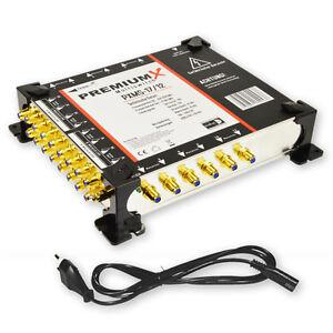 PremiumX-Multischalter-PXMS-17-12-Netzteil-12-Teilnehmer-4x-Sat-NEU