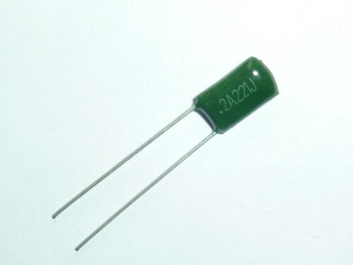 50pcs 2A221 0.00022uf 0.22nf 220pf 100V Mylar Film Capacitor