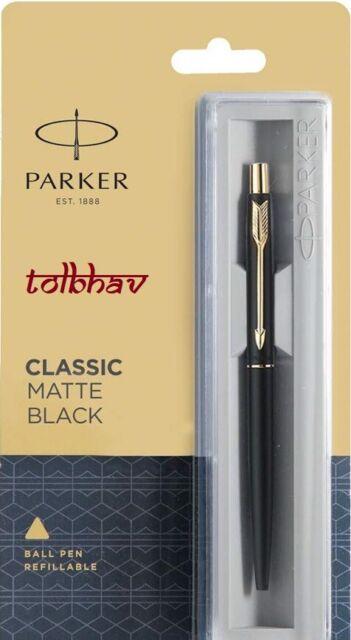 Parker  CLASSIC  Gold GT Ball point Pen Gold Trim Ballpoint New Blue Ink
