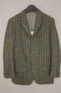 Men-60-039-s-Harris-Tweed-Coat-Jacket-Scottish-Wool-Grey-EU50-UK-US40-M-HA59